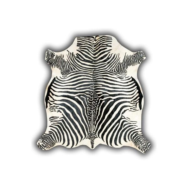 Kožená předložka Normand Cow, 210x220 cm, motiv zebry