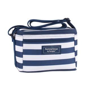 Tmavě modrá pruhovaná chladicí taška Navigate
