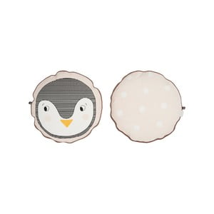 Dětský polštář z organické bavlny OYOY Penguin, ⌀ 40 cm