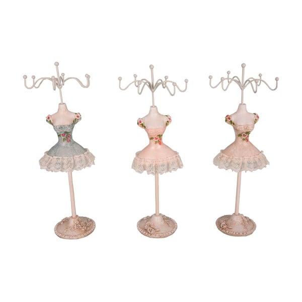Sada 3 stojánků na šperky Antic Line Ballerinas, výška 25cm