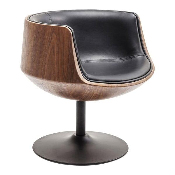 Hnědo-černé křeslo Kare Design Club 54