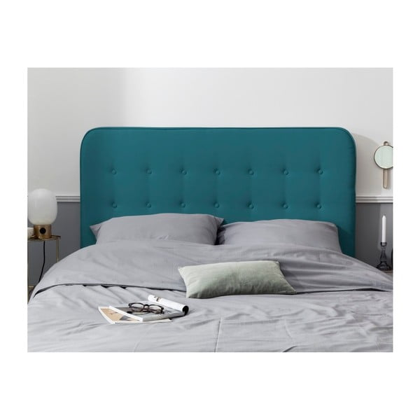 Azurově modré čelo postele HARPER MAISON Lena, 140 x 120 cm