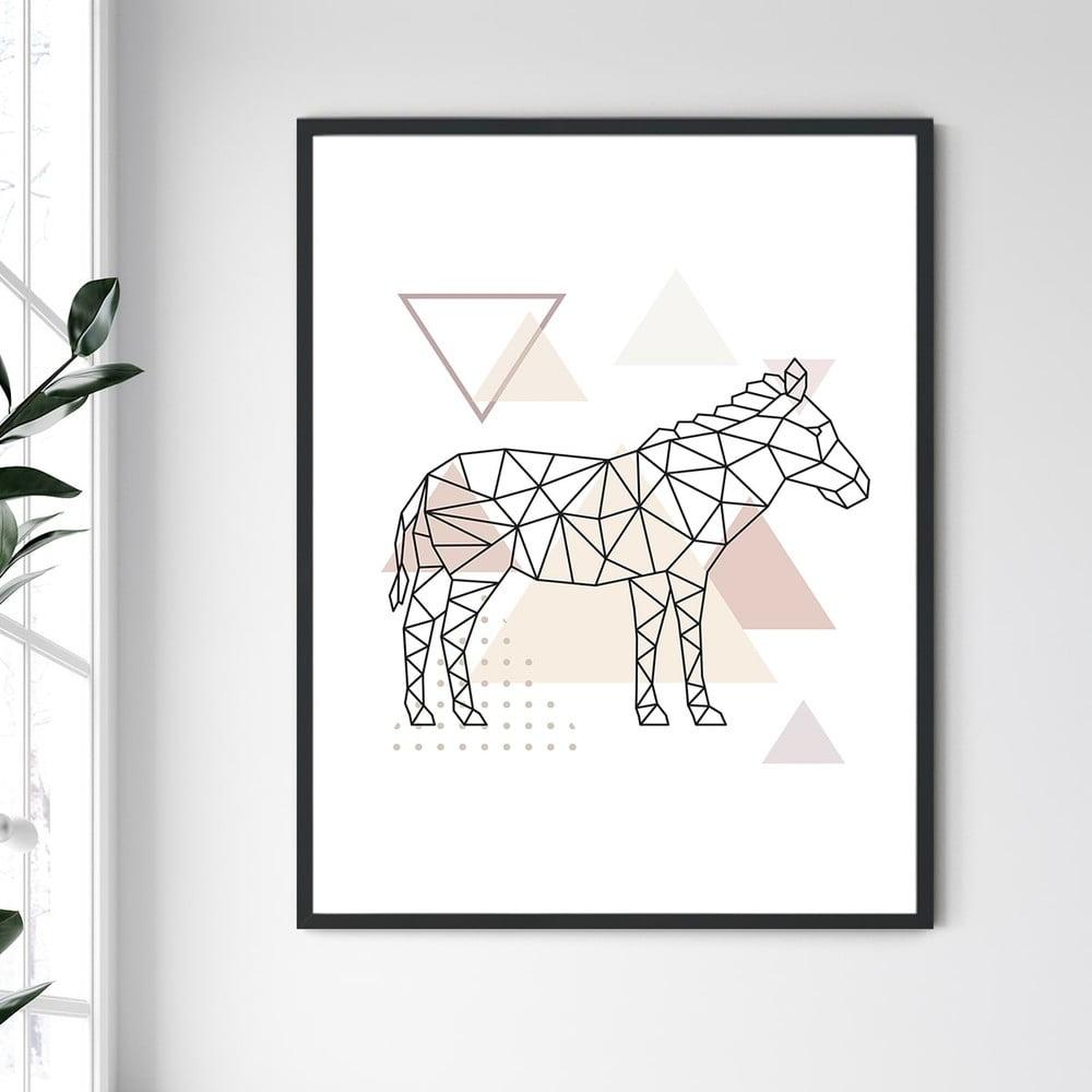 Nástěnný obraz v rámu North Carolina Frame Donkey, 30 x 40 cm