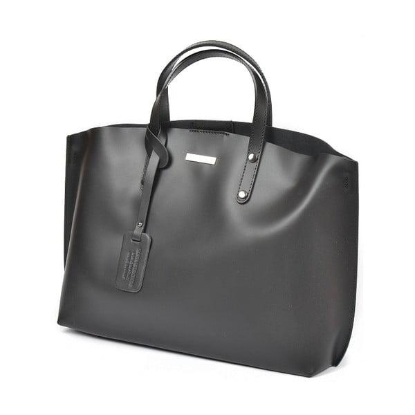 Černá kožená kabelka Luisa Vannini Diana