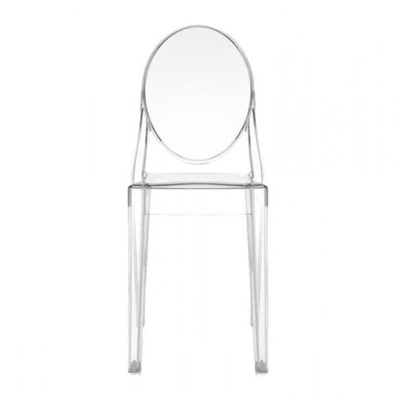 Transparentní židle Kartell Victoria Ghost