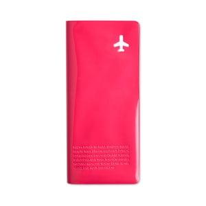 Peněženka na cestovní dokumenty, růžová