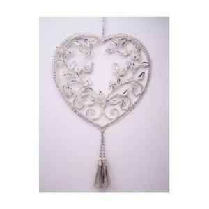 Závěsné dekorativní srdce Doves, 40 cm