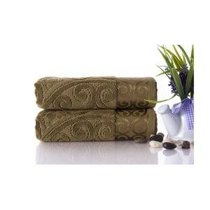 Set dvou ručníků Hanzade Green, 50x90 cm