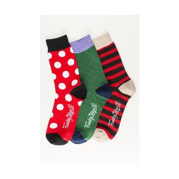 Sada 3 párů unisex ponožek Funky Steps Fulvia, velikost39/45