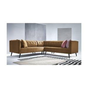 Canapea pe colț Bobochic Paris Parisienne, maro