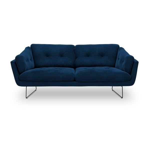 Královsky modrá třímístná pohovka se sametovým potahem Windsor & Co Sofas Gravity