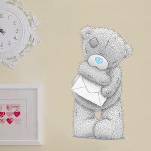 Samolepka na stěnu Medvídek se záplatou, 70x50 cm