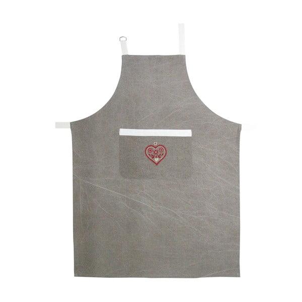 Zástěra Grey Heart