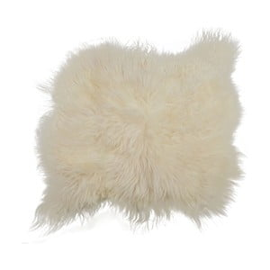 Bílý kožešinový koberec s dlouhým chlupem Arctic Fur Busta, 100x90cm