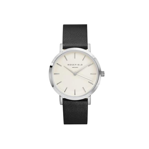 Stříbrnočerné dámské hodinky Rosefield The Gramercy