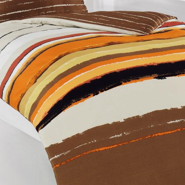 Povlečení s polštářem Spirit Brown, na jednolůžko, 135x200 cm