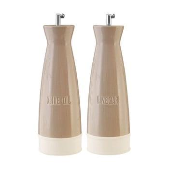 Set 2 recipiente pentru ulei și oțet Premier Housewares, 528 ml, maro imagine
