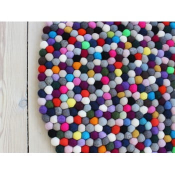 Covor cu bile din lână Wooldot Ball Rugs Multi Pang, ⌀ 120 cm