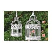 Sada 2 dekorativních závěsných klecí Bird Cage