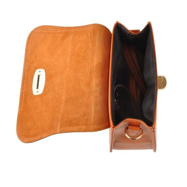Kožená kabelka Flaux, koňaková