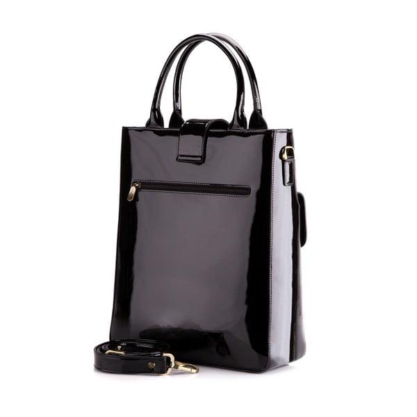 Kožená kabelka Verona Shiny Black