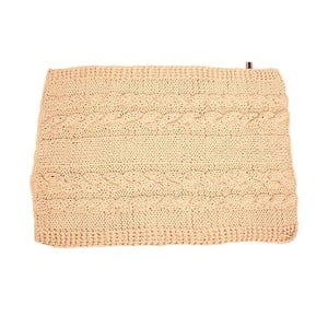 Ručně pletený koberec 100x70 cm, ecru