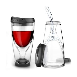 Černá termolahev Asobu Ice Vino 2GO, 300 ml