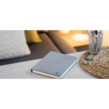 Veioză de birou cu LED Ginko Booklight Large, formă de carte, gri