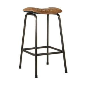 Barová stolička s potahem z kozí kůže VICAL HOME Nur
