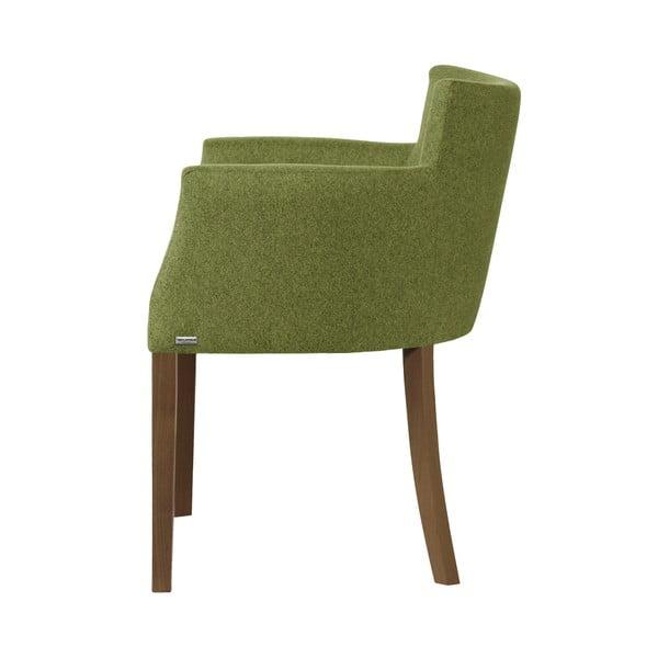 Tmavě zelená židle s tmavě hnědými nohami z bukového dřeva Ted Lapidus Maison Santal