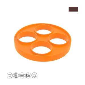Oranžová silikonová forma na volská oka a lívance Orion