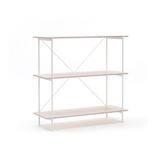Knihovna One - bílá, 77x80 cm