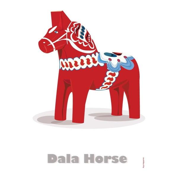Plakát Švédský dřevěný koník