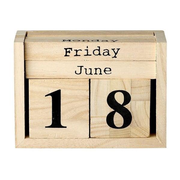 Dřevěný kalendář Bloomingville Calendar