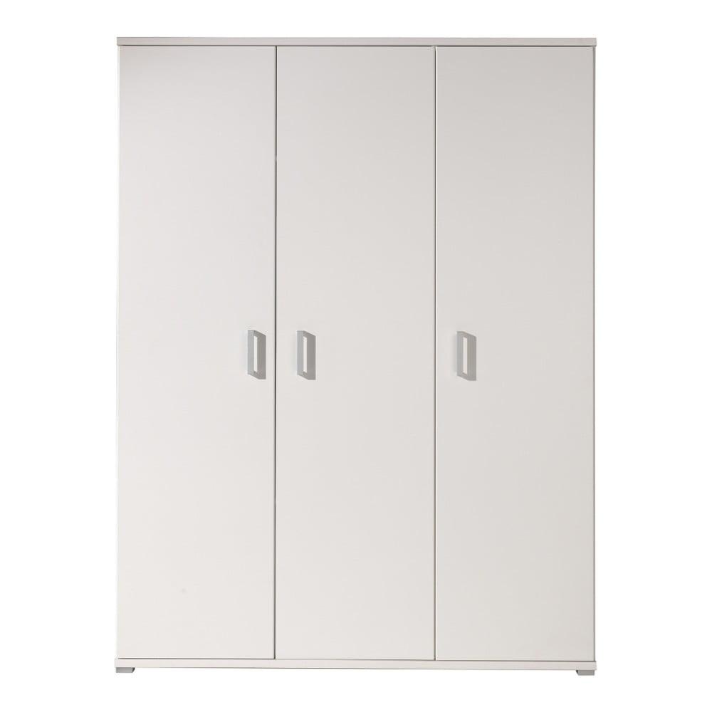 Bílá šatní skříň Vipack Milan, šířka 150 cm