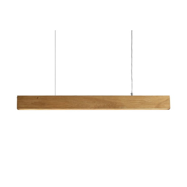Závesné svietidlo z dubového dreva Custom Form Line Plus L