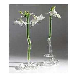 Sada 2 skleněných váz Curled