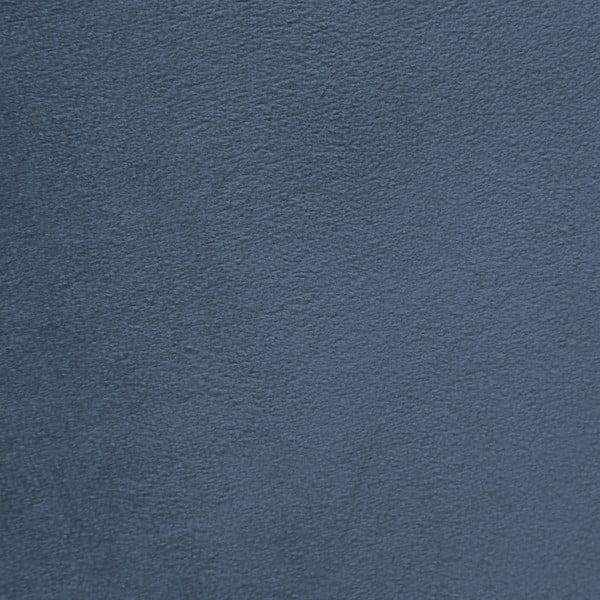 Modré křeslo a podnožka s podnoží v přírodní barvě Vivonita Cora Velvet