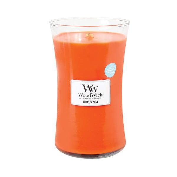 Svíčka s vůní citrusů a květu mandarinky WoodWick, dobahoření130hodin