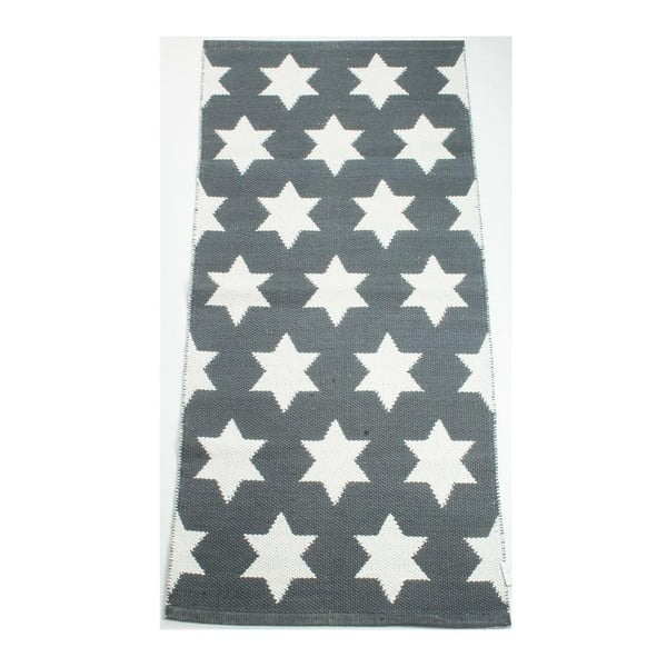 Oboustranný koberec Grey Stars, 135x65 cm