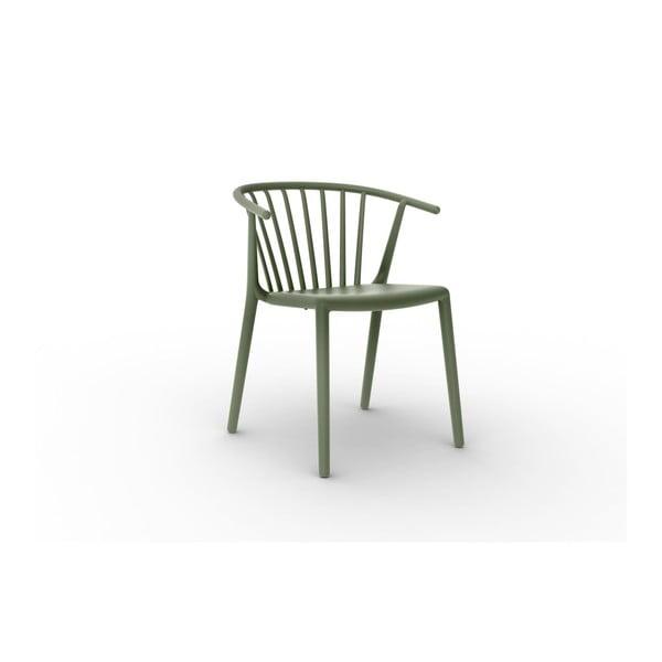 Sada 2 zelených jídelních židlí Resol Woody