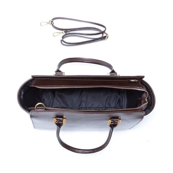Kožená kabelka Isabella Rhea 3017 Testa di moro
