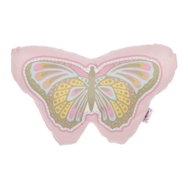 Dětský polštářek s příměsí bavlny Apolena Pillow Toy Butterfly, 30 x 18 cm