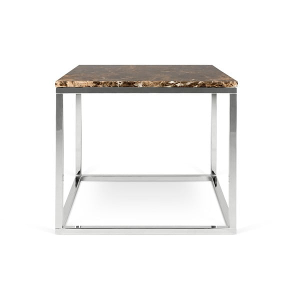 Hnědý mramorový konferenční stolek TemaHome Prairie, 50 x 47 cm