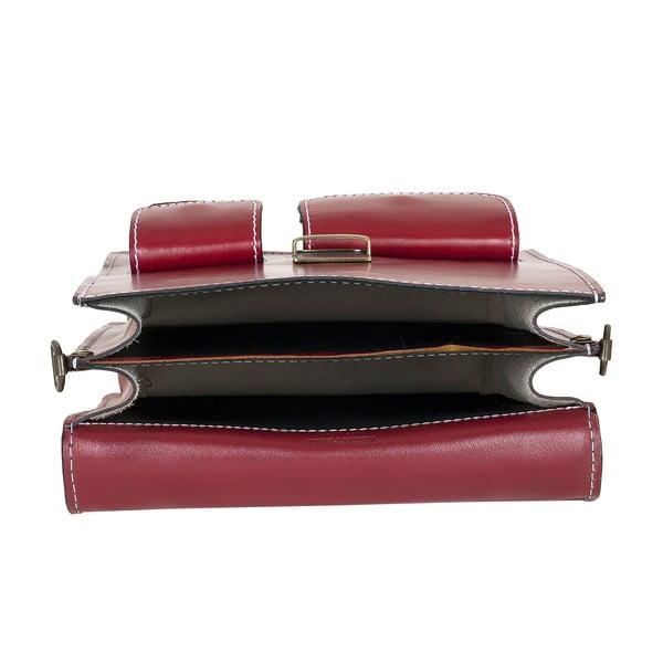 Kožená taška Ore Diece Urbino, červená