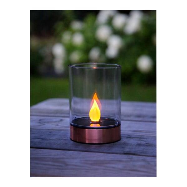 Zahradní světlo Solar Energy Garden Light Candle Rose