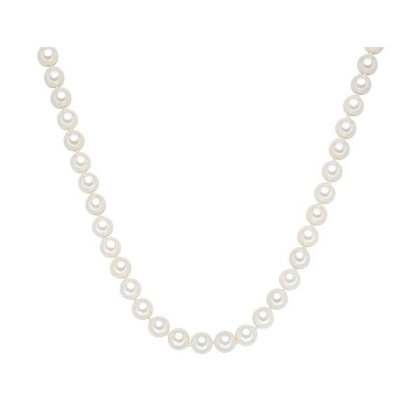 Perlový náhrdelník Muschel, bílé perly 10 mm, délka 45 cm