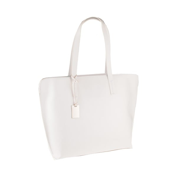 Bílá kožená kabelka Florence Vega