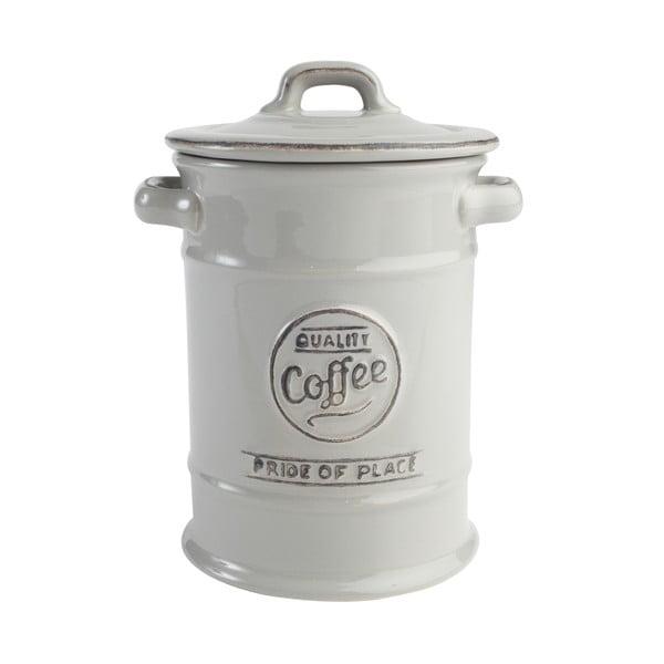 Šedá keramická dóza na kávu T&G Woodware Pride of Place