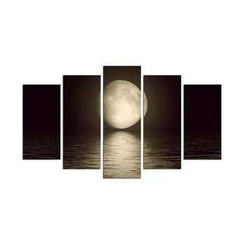 Tablou din mai multe piese Moon Over The River